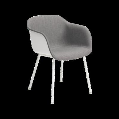 Fiber Armchair Front Upholstery - Tube Base Black / Black, Wooly koks 1002