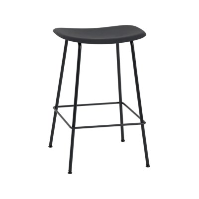 Fiber Bar Stool Tube Base Black/Black, 65