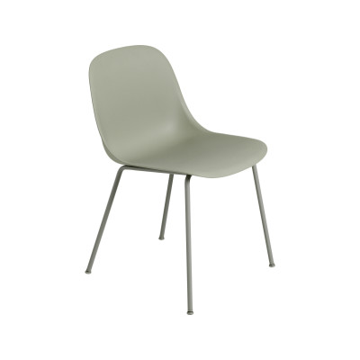 Fiber Side Chair Tube Base Dusty Green / Dusty Green