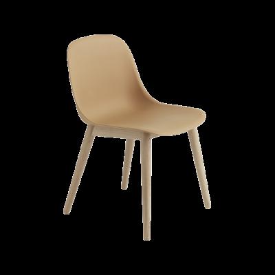 Fiber Side Chair Wood Base Ochre/Oak