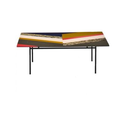 Fishbone Rectangular Table 68 x 108 x 60, Stardust, Version 1