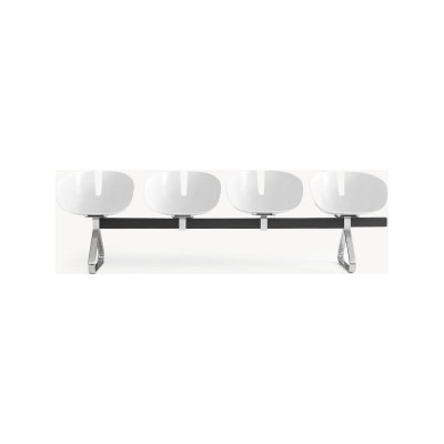 Fjord H. Bench 4 seat, Traffic White