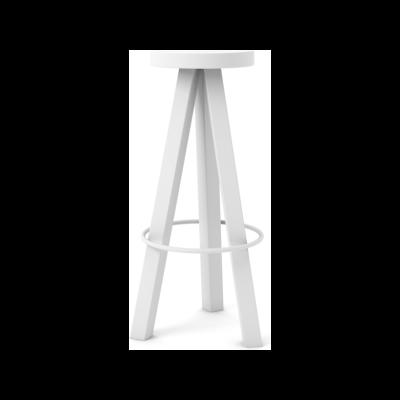 Flak Bar Stool Super-Matt Oak, White Texturised Lacquered