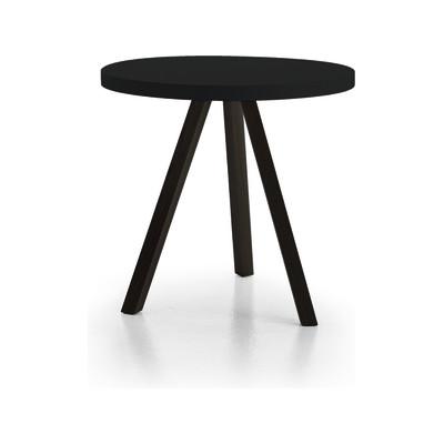 Flak Dining Table Super-Matt Oak, White Texturised Lacquered