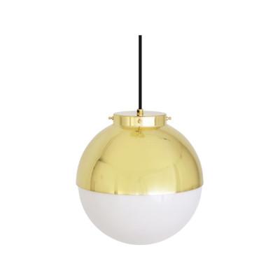 Florence Pendant Light Satin Brass, Opal Glass