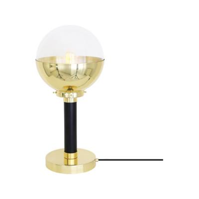 Florence Table Lamp Satin Brass, Opal Glass, UL plug