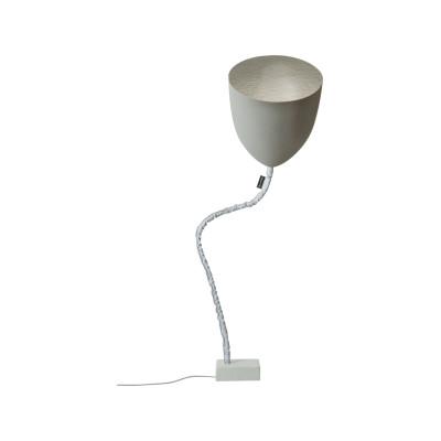Flower Cemento Floor Lamp Silver