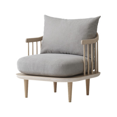 Fly SC10 Armchair White oiled oak, Remix 2 113