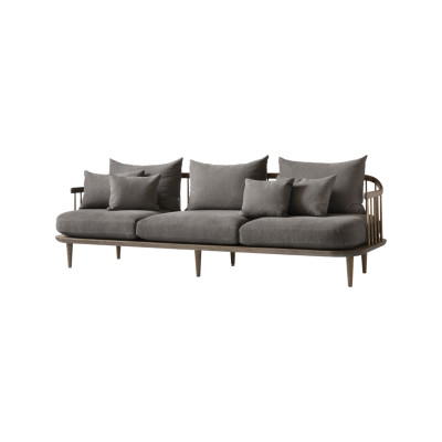 Fly SC12 Three-Seater Sofa White oiled oak, Pilot 132