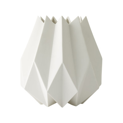 Folded Vase White, High