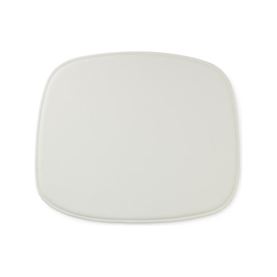 Form Seat Cushion White Leather