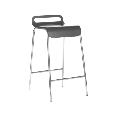 Form Bar Stool 87cm, Chrome, White Formica