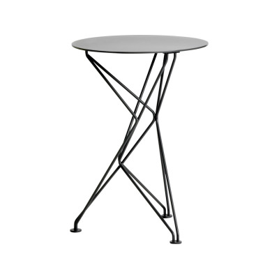 Fractal Side Table Lacquered Natural Steel