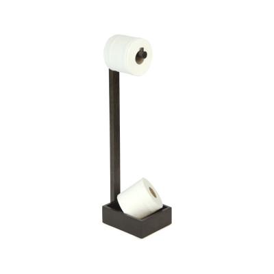 Freestanding toilet roll holder Dark Oak