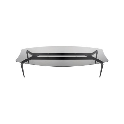 Gaulino Dining Table - Glass Top Fume Glass Top, 300