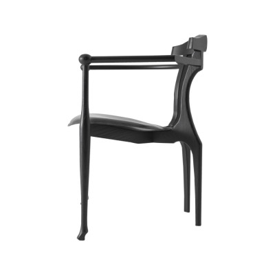 Gaulino Easy Dining Chair Hide Black C10