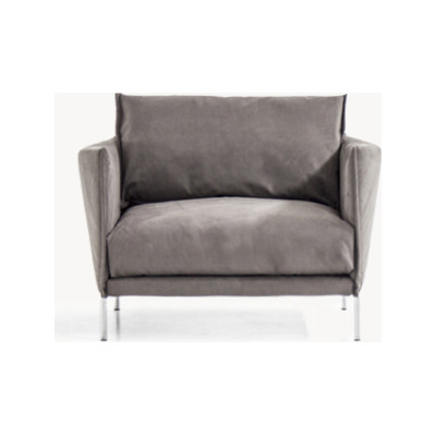 Gentry Armchair 120 x 90, A7320 - Units 1 Merlino beige, Steel Chrome