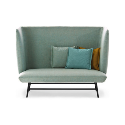 Gimme Shelter Sofa - New 160, Raw Black, A6130 - Denim 200 beige - S