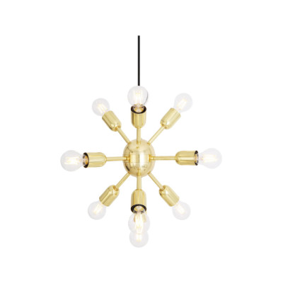 Glenties Sputnik Chandelier Antique Brass