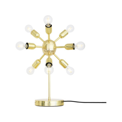 Glenties Table Lamp Satin Brass, UL plug