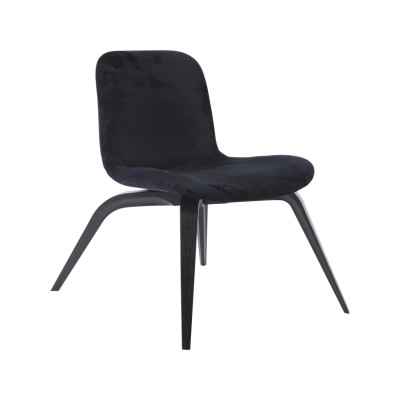 Goose Lounge Chair Tempur Leather Carbon Brown, Oak Black
