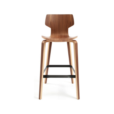 Gràcia Bar Stool Walnut veneer
