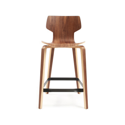 Gràcia Counter Stool Walnut veneer