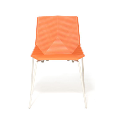 Green Colors Metal Dining Chair Orange