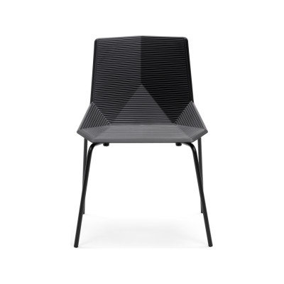 Green Eco Metal Dining Chair Black
