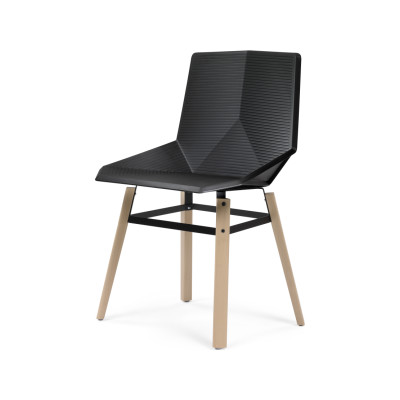 Green Eco Wooden Dining Chair Black