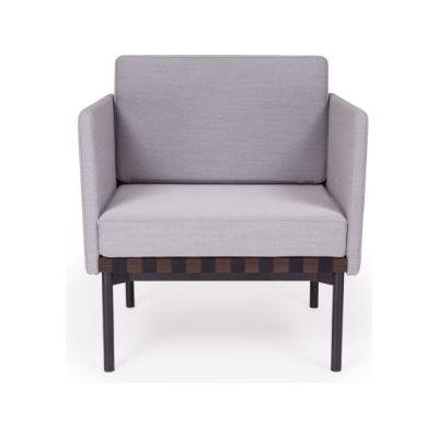 Grid - Armchair with 2 Armrests Coda 2 100, Oak