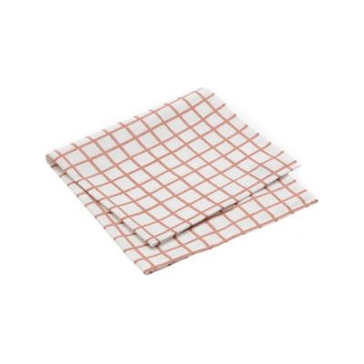 Grid Napkin - Set of 10 Grid Peach