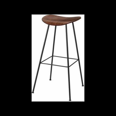 Gubi 2D Counter Stool Center Base - Unupholstered Gubi Wood American Walnut