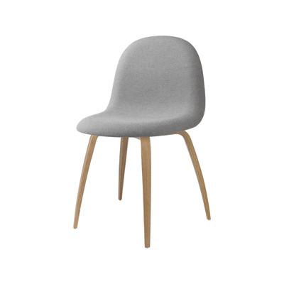 Gubi 3D Wood Base Dining Chair - Front Upholstered Gubi Wood American Walnut, Colline 108, Gubi Wood Oak
