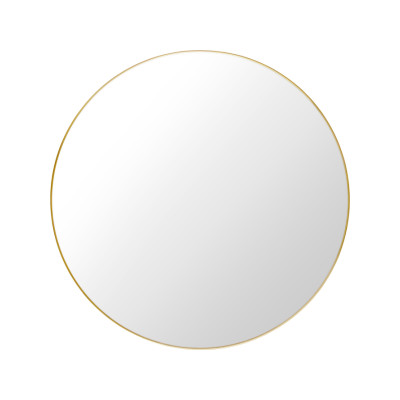 Gubi Round Mirror Polished Brass