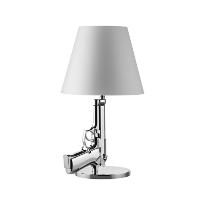 Guns Bedside Lamp Chrome