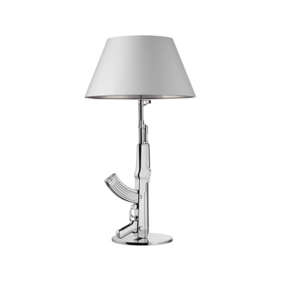 Guns Table Lamp Chrome