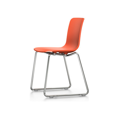 HAL Sledge Chair With Linking Connector, 65 orange, 04 white, 04 glides for carpet