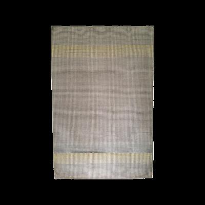 HALDI - yellow & teal hand woven rug 200 x 300cm