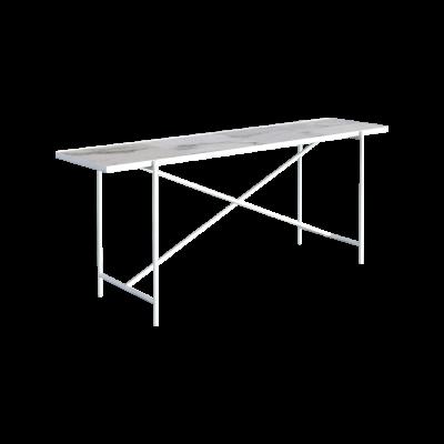 Handvärk Console Table Grey Marble, Black Base