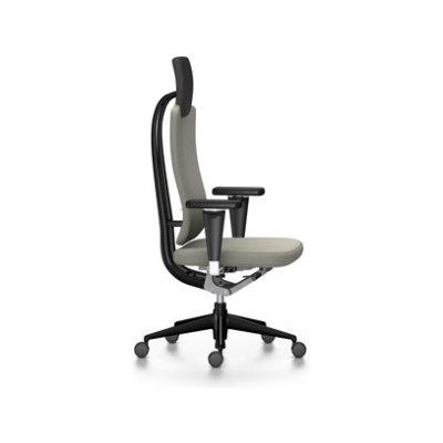 Headline Office Swivel Chair Light grey, 02 castors hard - braked for carpet, Adjustable Standard - 400 N, without armrests, plastic basic dark