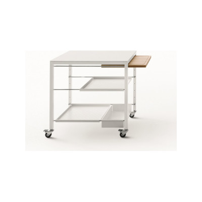 Helsinki 481 Rectangular Trolley 46, B62 Matt White, B62 Matt White
