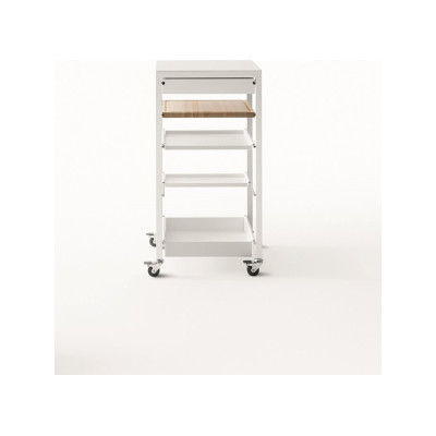 Helsinki 481 Square Trolley 100, B62 Matt White, D84 White Calce