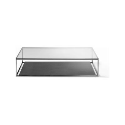Helsinki 15 Coffee Table A03 Chrome, E05 Matt Bungee Brown Glass, 118 x 118cm, No