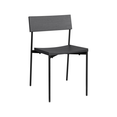 Henning Dining Chair Jet Black Stained Laquered, Oak