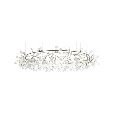 Heracleum the Big O Pendant Light Moooi Heracleum Nickel, 4m Cable Length