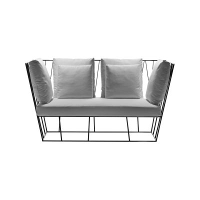 Herve Two-seater sofa Grey/Olive-Green