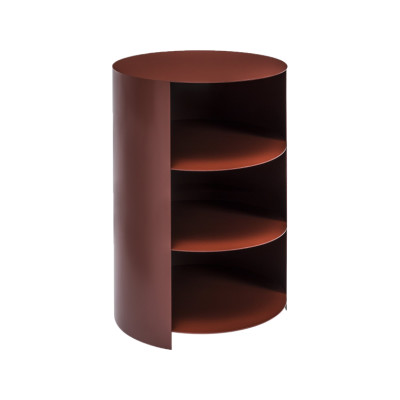 Hide Pedestal Rust Red