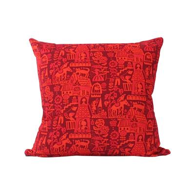 Higgledy Cushion Red