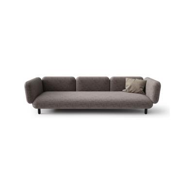 Hobo Home 3 Seater Sofa Pelle Soft Leather Soft 2005, Frassino Ash Wood 117